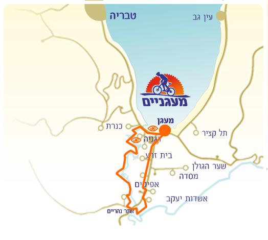 מסלול גדות הירדן ממעגן לנהריים דרך הירדן הדרומי